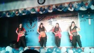 Khub Chena Chena *Item Girls' Dance*Freshers Reception-2015*Dept.of Law & Justice*JU*