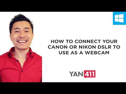 How to Connect Your Canon or Nikon DSLR to Use as a Webcam