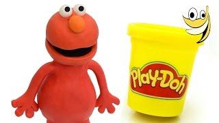 Play doh Elmo Sesame Street Stop motion animation Monstruo de las galletas [4k]