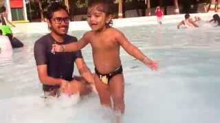 WORLD MOST FUNNY BABY VIDEO IN WATER PARK  AQUATICA KOLKATA, INDIA