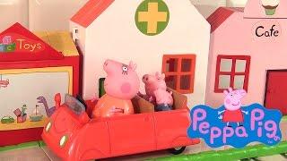 Jouets de Peppa Pig fait les courses en ville Camion de Musée Shopping Playset