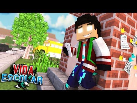 Minecraft PRIMEIRO DIA DE AULA 01 VIDA ESCOLAR