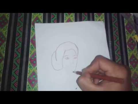 Cara Menggambar Orang Wajah RA KARTINI