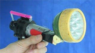 How to make a self - Powered Hand Crank Flashlight