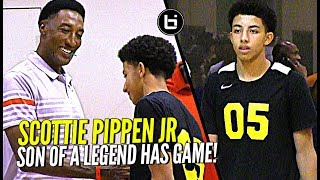 Scottie Pippen's Son Watching Too Much Steph Curry! Scottie Pippen Jr at Nike Elite 100!