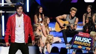 Cody Simpson & Austin Mahone Perform at Radio Disney Music Awards 2013