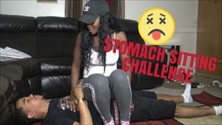 STOMACH SITTING CHALLENGE!!! (SHE ALMOST PASSED OUT)