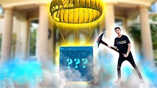 Unboxing a FORTNITE Supply Drop in REAL LIFE!! **what