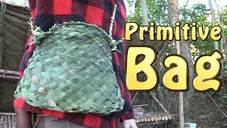 How To Weave A Primitive Bushcraft Bag