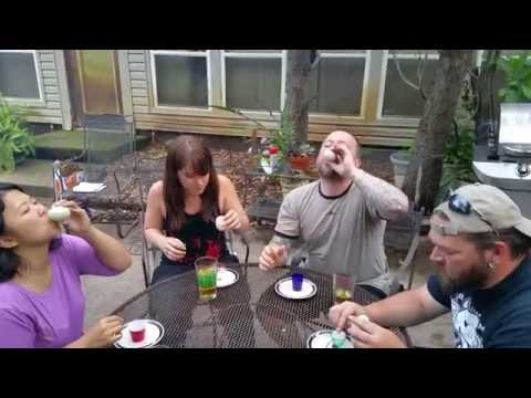White people eating Balut for the first time