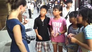 Japan - Kyoto - Stopped by Cute Japanese children while walking to Kiyomizu-dera Temple -