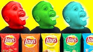 LAYS POTATO CHIP CHALLENGE! (GONE WRONG) 10 Flavors Shasha and Shiloh - Onyx Kids