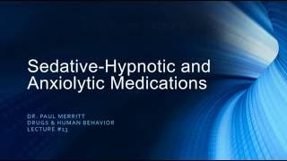 Sedative Hypnotics - Barbiturates