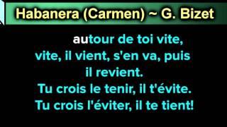 Habanera Carmen ~ G  Bizet ~ New Karaoke ~ Karaoke 808