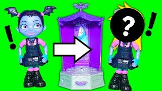 VAMPIRINA Disney Assistant Plays with PJ Masks Transforming Towers with Paw Patrol Toys