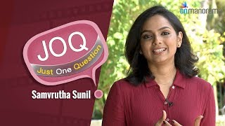 Onmanorama Just One Question to Samvrutha Sunil