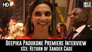 Deepika Padjukone Premiere Interview - xXx: Return of Xander Cage