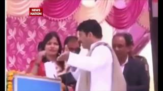 Manoj Tiwari scolds woman teacher, asked to leave the stage