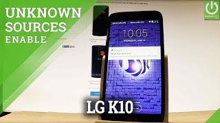 How to Enable Unknown Sources in LG K10 (2017) - Allow Installation