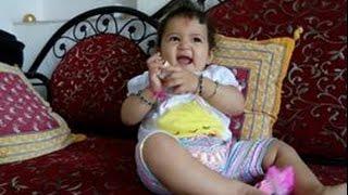 Little cute girl Dristi on her first Rakhi enjoying