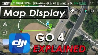 DJI GO 4 App - Map Display - DJI Mavic Pro Air Phantom Spark