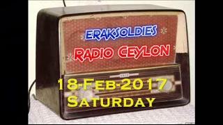 Radio Ceylon 18-02-2017~Saturday Morning~01 Ek Aur Anek - Zohrabai Ambalvi