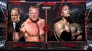 WWE Monday Night RAW 2017 Brock Lesnar vs. The Rock - WWE Raw 6/26/17