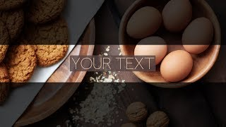 FREE Food Banner Template For YouTube Channel #25 Photoshop I Download - (2018)
