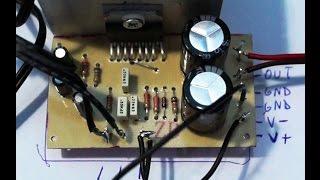 Building an 100W Audio amplifier