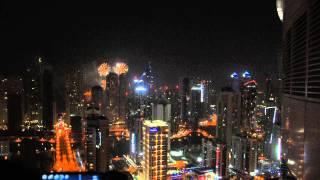New Year's Eve Fireworks in Palm Jumeirah, Dubai 2015