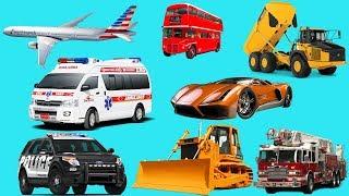 Learn Street Vehicles Names for Kids | Transport Vehicles for Children | TÊN GỌI VÀ ÂM THANH CÁC
