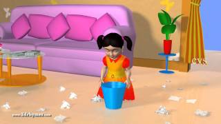 Bits of Paper - 3D Animation English Nursery rhyme for children with lyrics