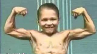 6-year old with 8-pack instead six pack abs