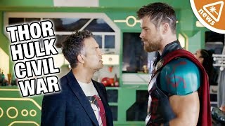 Where Were Thor & Hulk During Captain America Civil War? (Nerdist News w/ Jessica Chobot)