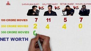 Salman vs Shahrukh vs Amir vs Akshay Comparison 2017 | Full Biography | BHAIJAAN ENTERTAINMENT