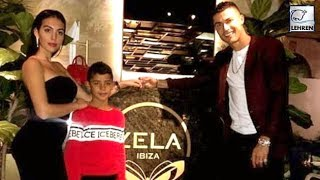 Cristiano Ronaldo Grabs Dinner With GF And Son At London