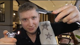 ASMR - Barber Roleplay | Hot Towel Shave