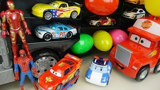 Heroes Cars truck and Robocar poli surprise eggs car toys play