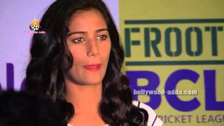 Poonam Pandey With Team Of BCL Season 2 At Curtain Raiser
