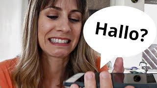Falando ao TELEFONE em ALEMÃO | Será que rola?
