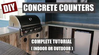 The Most Simple Concrete Counter Tutorial | You can do this!