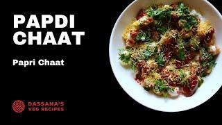 papdi chaat recipe - how to make dahi papdi chaat recipe