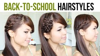 Back to School Hairstyles: 4-Strand French Braid & Bow Braid Tutorial