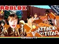 Download Video Download ATTACK ON TITAN IN ROBLOX! DOWNFALL | Let's Play Team Attack On Titans | Gameplay [KM+Gaming S02E14] 3GP MP4 FLV