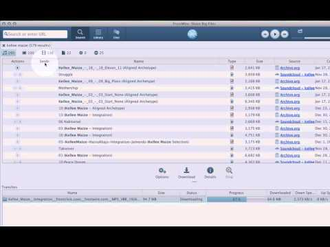 How to search and download files with FrostWire Wynwood (5.6)