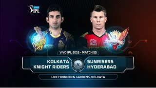 KKR vs SRH  Match 55 Highlights 2016