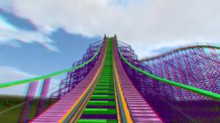 3D Rollercoaster: Ultraviolet (3D Anaglyph for phones/tablets/non-3D TVs)