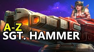♥ A - Z SGT. Hammer -  Heroes of the Storm (HotS Gameplay)