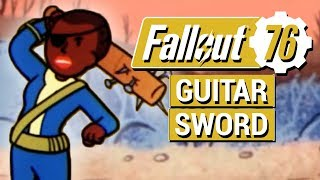 FALLOUT 76: NEW Guitar Sword Melee Weapon and Sickleman REVEALED!!
