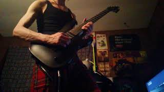 7 string jam with loop and crybaby foot pedal